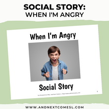 Load image into Gallery viewer, When I'm Angry Social Story