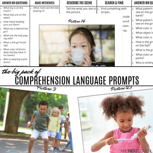 Comprehension Language Prompts Pack