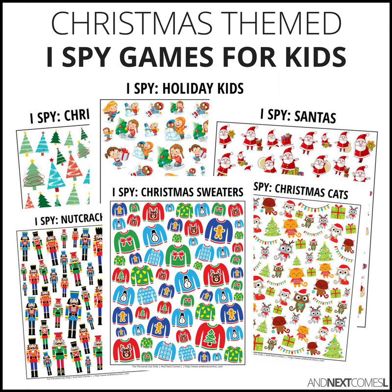 Christmas I Spy Bundle Pack
