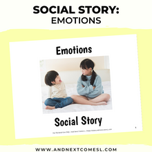 Load image into Gallery viewer, Emotions Social Story
