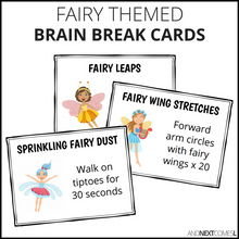 Load image into Gallery viewer, Fairy Themed Brain Break Cards
