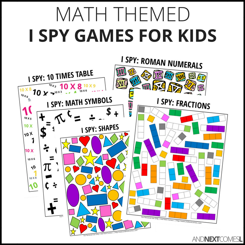 Math I Spy Bundle Pack