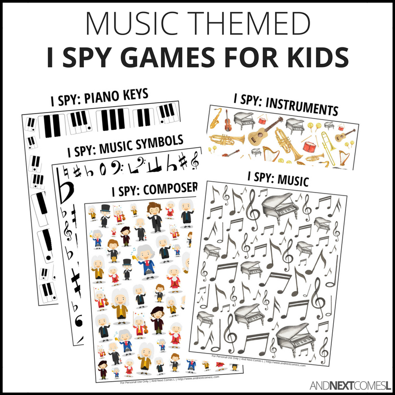 Music I Spy Bundle Pack