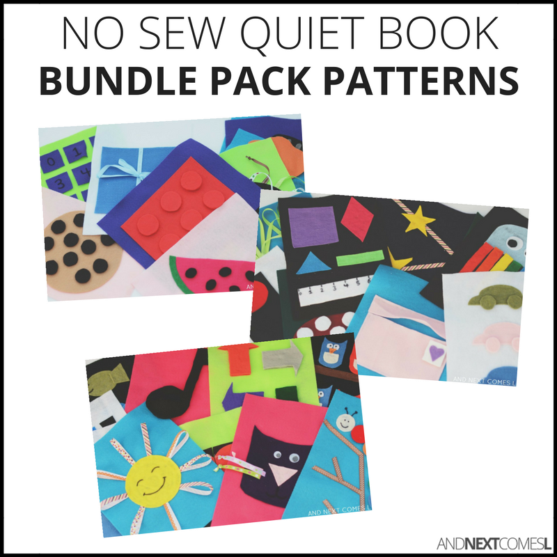 No Sew Quiet Book Patterns - Bundle Pack