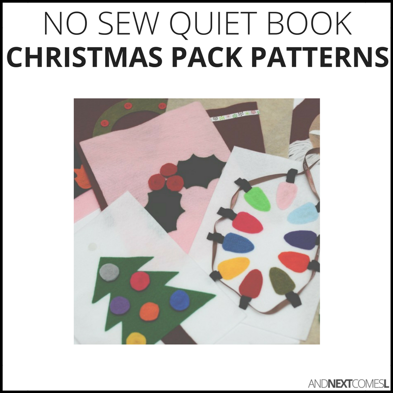 No Sew Quiet Book Patterns - Christmas Pack