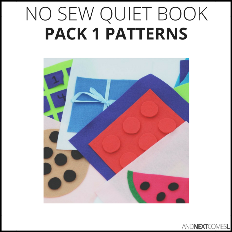 No Sew Quiet Book Patterns - Pack #1