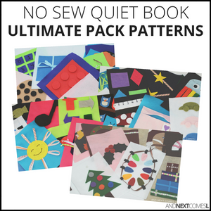 The Ultimate No Sew Quiet Book Patterns Bundle Pack