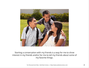 Starting a Conversation Social Story