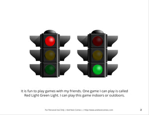 Playing Red Light Green Light Social Story