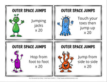 Load image into Gallery viewer, Outer Space Themed Brain Break Cards