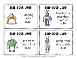 Robot Themed Brain Break Cards