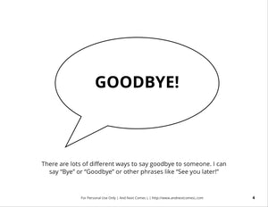 Saying Goodbye Social Story