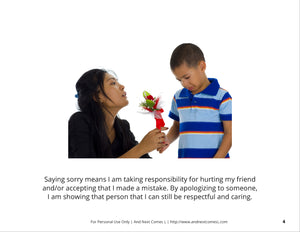 Saying Sorry/Apologizing Social Story