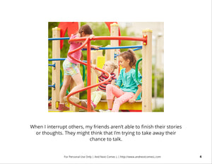 Interrupting Others Social Story