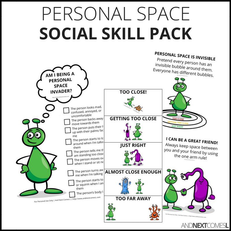 Personal Space Social Skills Pack