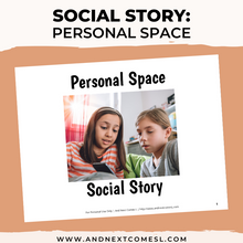 Load image into Gallery viewer, Personal Space Social Story