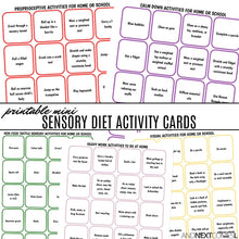 Load image into Gallery viewer, Mini Sensory Diet Activity Cards