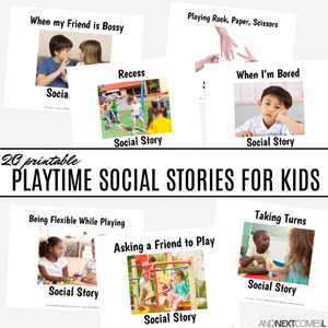 Playtime Social Story Bundle