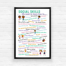 Load image into Gallery viewer, Social Skills Poster
