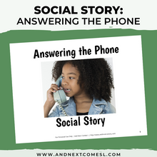 Load image into Gallery viewer, Answering the Phone Social Story