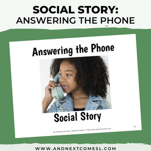 Answering the Phone Social Story