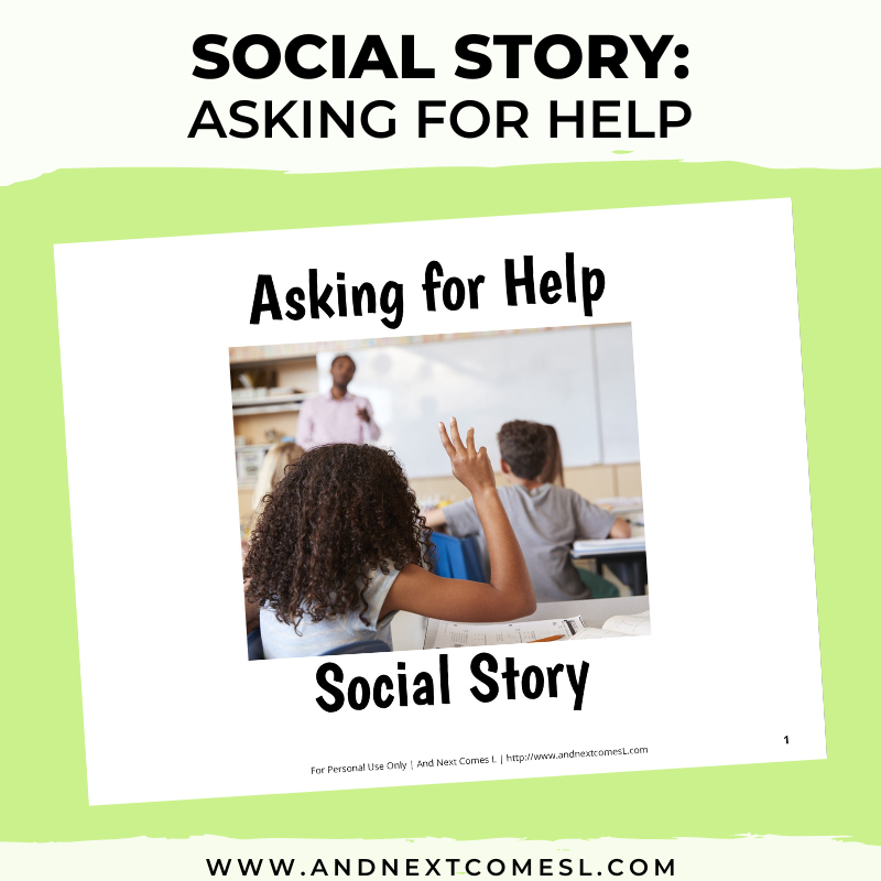 Asking for Help Social Story