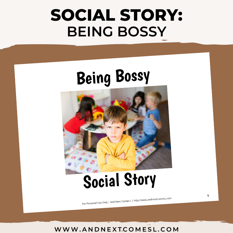 Being Bossy Social Story