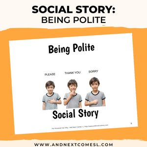 Being Polite Social Story