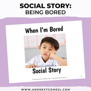 When I'm Bored Social Story