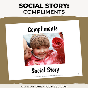 Compliments Social Story