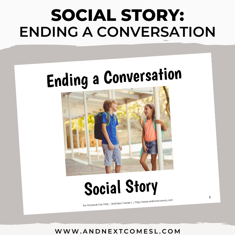 Ending a Conversation Social Story