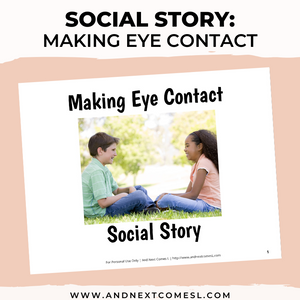 Making Eye Contact Social Story