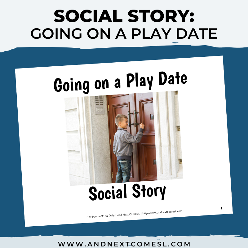 Going on a Play Date Social Story