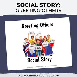 Greeting Others Social Story
