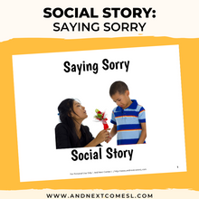Load image into Gallery viewer, Saying Sorry/Apologizing Social Story