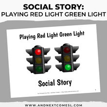 Load image into Gallery viewer, Playing Red Light Green Light Social Story