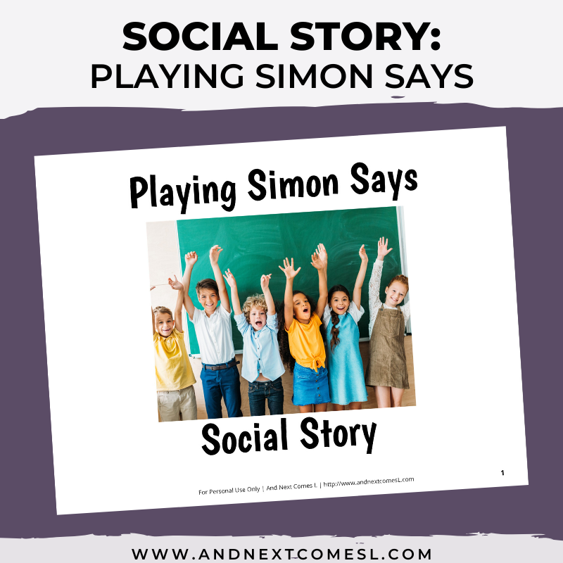 Playing Simon Says Social Story