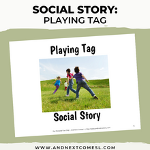 Load image into Gallery viewer, Playing Tag Social Story