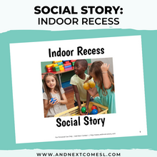 Load image into Gallery viewer, Indoor Recess Social Story
