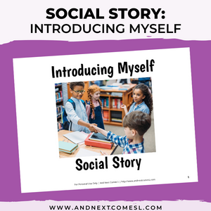 Introducing Myself Social Story
