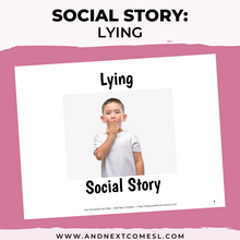 Load image into Gallery viewer, Lying Social Story