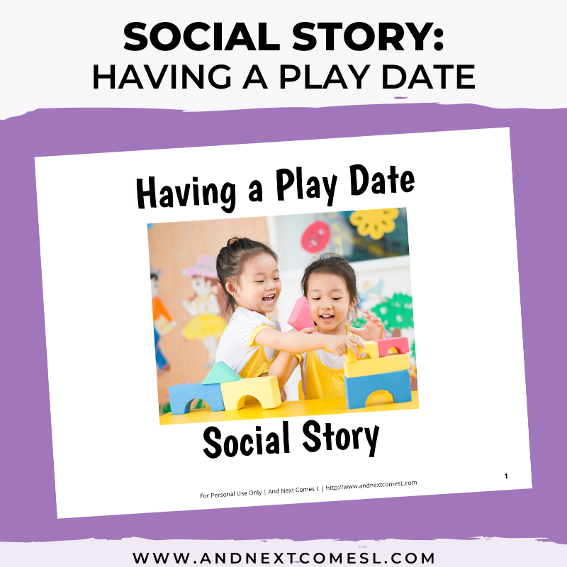 Having a Play Date Social Story