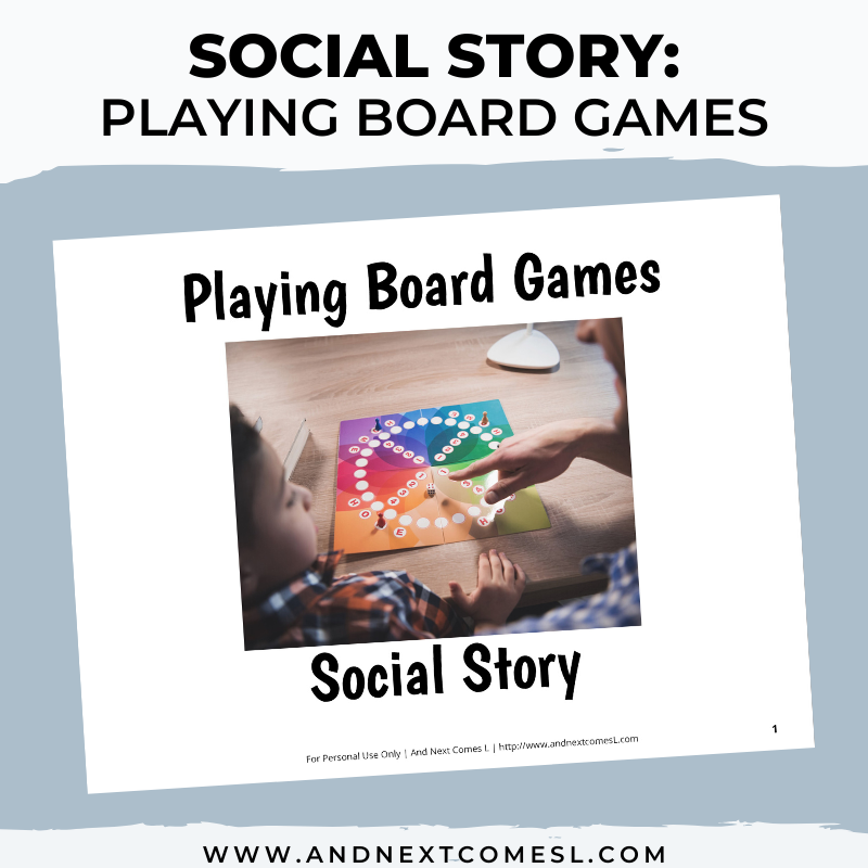 Playing Board Games Social Story