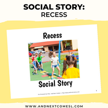 Load image into Gallery viewer, Recess Social Story