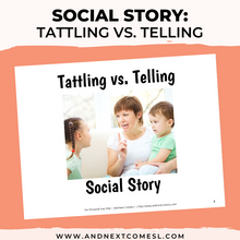 Load image into Gallery viewer, Tattling vs. Telling Social Story