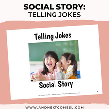 Load image into Gallery viewer, Telling Jokes Social Story