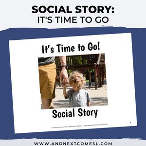 Time to Go Social Story