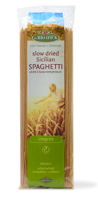 La Bio Idea Slow Dried Sicilian Spaghetti - Wholewheat 500g