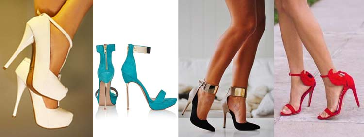 """Black Color Open Toe Ankle High Womens 6"""" Funky High Heels Platform Pump Strappy"""