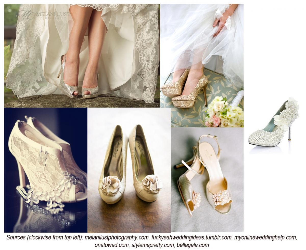 ae3faf04c735 Shabby Chic Wedding Shoes. If your perfect day involves a little lace and  maybe some flowers